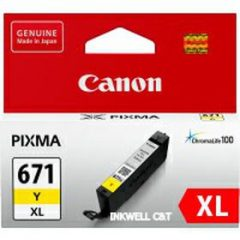 Canon CLI671XL Yellow Ink Cartridge (Genuine)