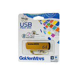 USB 2.0 Flash Disk 64GB Gold Memory Stick