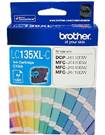 Brother LC-135XL Cyan Ink Cartridge (Genuine)
