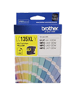 Brother LC-135XL Yellow Ink Cartridge (Genuine)