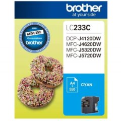 Brother LC-233 Cyan Ink Cartridge (Genuine)