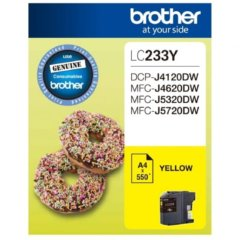 Brother LC-233 Yellow Ink Cartridge (Genuine)