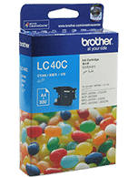 Brother-LC-40-Cyan-Genuine Brother LC-40 Cyan Ink Cartridge (Genuine)