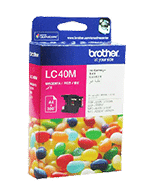 Brother-LC-40-Magenta-Genuine Brother LC-40 Magenta Ink Cartridge (Genuine)