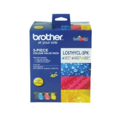 Brother LC-67HYCL 3 Pack Colour Ink Cartridges