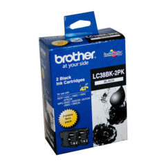 Brother LC-38 Black Ink Cartridge Twin Pack