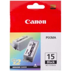 Canon BCI-15 Black Twin Pack Ink Cartridges