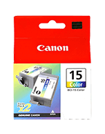 Canon BCI-15 Colour 2 Pack Ink Cartridges (Genuine)