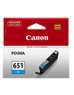 Canon-CLI-651-Cyan-Genuine Canon CLI-651 Cyan Ink Cartridge (Genuine)