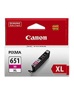 Canon-CLI-651XL-Magenta-Genuine Canon CLI-651XL Magenta Ink Cartridge (Genuine)