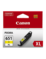 Canon-CLI-651XL-Yellow-Genuine Canon CLI-651XL Yellow Ink Cartridge (Genuine)