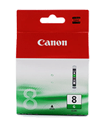 Canon-CLI-8-Green-Genuine Canon CLi-8 Green Ink Cartridge (Genuine)