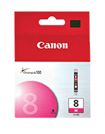 Canon-CLI-8-Magenta-Genuine Canon CLi-8 Magenta Ink Cartridge (Genuine)