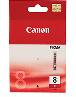 Canon-CLI-8-Red-Genuine Canon CLi-8 Red Ink Cartridge (Genuine)