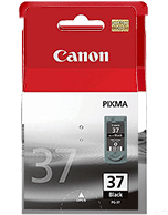 Canon PG-37 Black Ink Cartridge (Genuine)