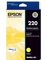 Epson-220-Yellow Epson 220 Yellow C13T293492 Ink Cartridge (Genuine)