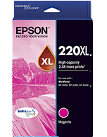 Epson-220XL-Magenta Epson 220XL Magenta C13T294392 High Capacity DURABrite Ultra Ink Cartridge (Genuine)