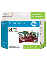 HP 02 CG849AA Value Pack x 6 Ink Cartridges (Genuine)