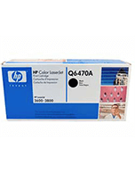 HP-502-Q6470A-Black-Genuine HP 501A Q6470A Black Toner Cartridge (Genuine)