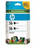 HP-56-C6656A-Black-Genuine HP 56 C6656A Black Ink Cartridge (Genuine)