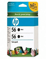 HP-56-C6656A-Twin-Black-Genuine HP 56 CC620AA Twin Pack Black Ink Cartridges (Genuine)