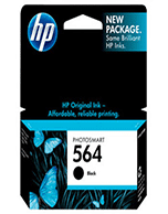 HP-564-Black-Std-Yeild-Genuine HP 564 CB316WA Black Ink Cartridge (Genuine)