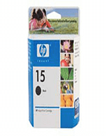 HP-C6615DA-Genuine HP 15 C6615DA Black Ink Cartridge (Genuine)