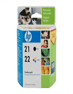 HP 21 & 22 CC630AA Combo Pack Ink Cartridges (Genuine)