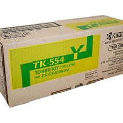 Kyocera TK-554Y Yellow Toner Cartridge