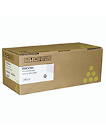 Lanier-SPC222SF-Yellow-Genuine Ricoh Lanier SPC222SF Yellow 406062 Toner Cartridge (Genuine)