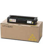 Lanier-SPC242SF-Yellow-Genuine Ricoh Lanier SPC242SF Yellow 406486 Toner Cartridge (Genuine)