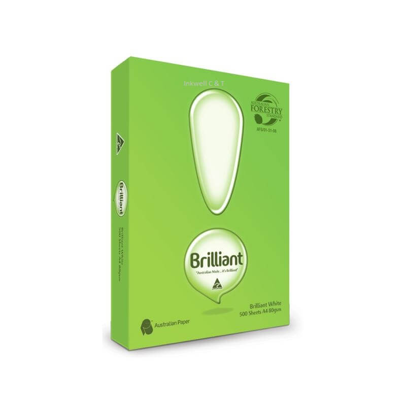 Brillant-A4COPYPAPER-1 Paper 80gsm A4 Brilliant White Copy paper 500 sheets