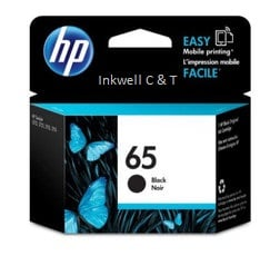 HP 65 Black N9K02AA Ink Cartridge (Genuine)