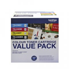 Brother TN 240 Colour Toner Cartridges 4 Pack