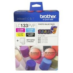 Brother LC-133PVP Bk,C,M,Y Ink Cartridges (Genuine)