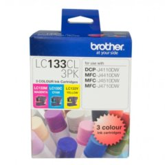 Genuine Brother LC-133CL3Pk C,M,Y Ink Cartridges