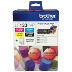 Genuine Brother LC-133PVP Bk,C,M,Y Ink Cartridges