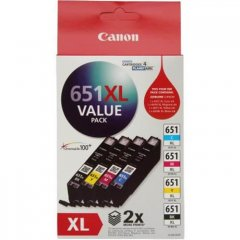 Canon 651XL Value Pack Ink Cartridges