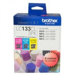 lc133-cmy-240x240 Brother LC-133CL3Pk C,M,Y Ink Cartridges (Genuine)