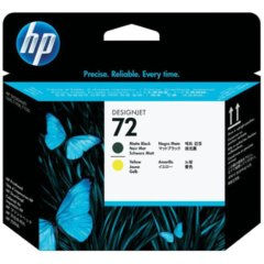 HP 72 Matte Black & Yellow Print Head Cartridge