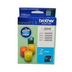 Brother LC-231 Cyan Ink Cartridge (Genuine)