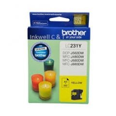 Brother LC-231 Yellow Ink Cartridge (Genuine)