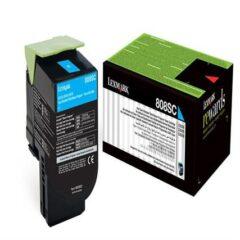 Lexmark 808SC Cyan Toner Cartridge