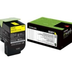 Lexmark 808Y Yellow Toner Cartridge