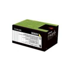 Lexmark 808SY Yellow Toner Cartridge