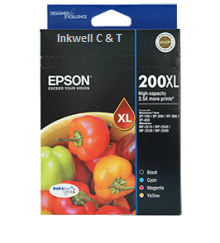 200xl-VP Epson 200XL Bk/C/M/Y C13T201692 4 Ink Value Pack (Genuine)