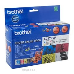 Brother LC-57 Bk/C/M/Y Value Pack (Genuine)