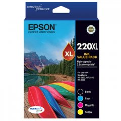 Epson 220XL Value Pack Ink Cartridges