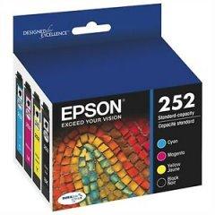 Epson 252 [C13T252692] VALUE PACK – 4 Genuine Bk,C,M,Y Ink Cartridges