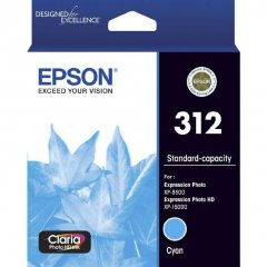 Epson 312 [C13T182292] Standard Cyan Genuine Ink Cartridge